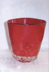 ガラス漆焼酎道楽シリーズ♪ロックグラス・赤 名入れ、結婚祝・誕生祝・クリスマス等プレゼントに最適♪