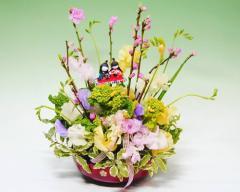 【ひなまつり特集】雛祭り 桃の花アレンジ