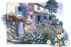 ペター・モッツ ジグソーパズル【23-037 花の階段を上って・・・】2016ベリースモールピース(50×75cm)/エポック社