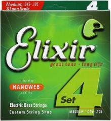 Elixir エリクサー エレキベース弦 14077 Medium (.045〜.105)【NANOWEB】【郵送対応商品】【z8】