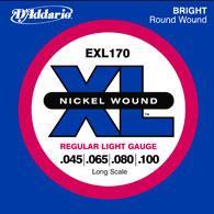 【即日発送O.K】DAddario ダダリオ エレキベース弦 EXL170 Regular Light .045〜.100 【郵送対応商品】【z8】