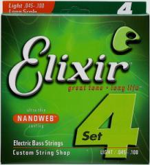 【即日発送O.K】Elixir エリクサー エレキベース弦 14052 Light (.045〜.100)【NANOWEB】【郵送対応商品】