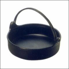 及源 すき焼き鍋(ツル付・24cm)CA-1【南部鉄器】すきやき鍋 鋳物 鉄鍋 200V IH対応