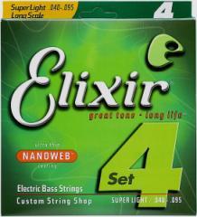 【即日発送O.K】Elixir エリクサー エレキベース弦 14002 Super Light (.040〜.095)【NANOWEB】【郵送対応商品】【z8】