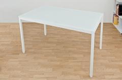 【送料無料!ポイント2%】清潔感あふれるガラス天板!URBANガラステーブル120 2色