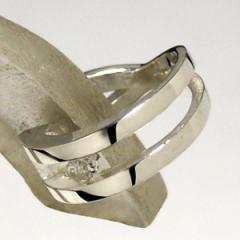 ダイヤモンド シンプルシルバーイヤーカフ (1P/片耳用)イヤーカフ/イヤーカフス/シルバー925/レディース/4月/誕生石