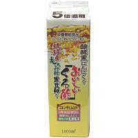 おいしいくろ酢 1800ml 【黒酢バーモント飲料/フジスコ】