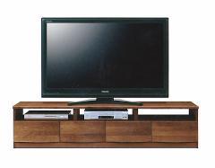 【送料無料】天然木アルダー材!180cm幅テレビローボード◆AVボードテレビ台AV収納◆ブラウン