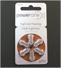 【PR41(P312)】補聴器用電池 * ドイツ PowerOne(パワーワン)製補聴器電池