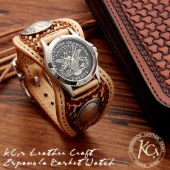 送料無料♪KC,s☆最上級牛革ウォッチ!バックルベルト腕時計☆エスパニョーラ・バスケット