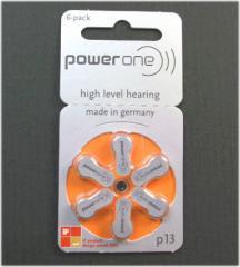 【PR48(P13)】補聴器用電池 * ドイツ PowerOne(パワーワン)製補聴器電池