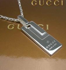 グッチ GUCCI チェーンネックレス Gロゴ シルバー 145170-J8400-8106 ペンダント アクセサリー