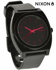 ニクソン 腕時計★THE TIME TELLER P A119480 ブラック×ブライトピンク
