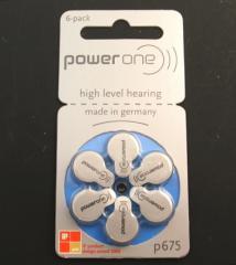 【PR44(P675)】補聴器用電池 * ドイツ PowerOne(パワーワン)製補聴器電池