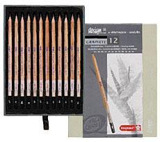デザイン グラファイト鉛筆12本セット 高品質のスケッチ・デッサン鉛筆