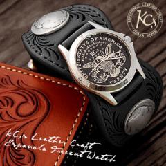 送料無料♪KC,s☆最上級牛革!バックルベルト腕時計☆エスパニョーラ・フリーカットウォッチ