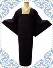 雨の日も安心 お仕立上がり二部式和装雨コート黒