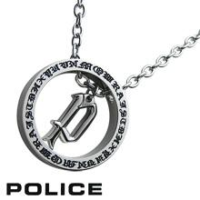 POLICE ポリス ネックレス AVALON ゴシックP リングネックレス 20941PSS01☆20%OFF:送料無料!市原隼人着用モデル