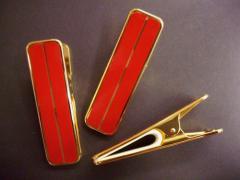 着物ハンディクリップ大3本セット赤 和装きもの浴衣着付け小物