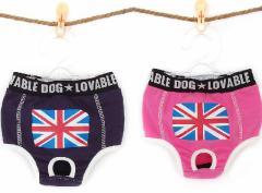 【メール便送料無料】ペット用マナーパンツ☆生理用パンツ☆【小型犬用服/ドッグウェア】国旗
