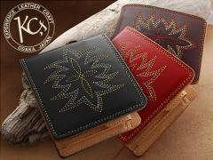 【KC,s】サンタフェ ビルフォード メダリオン◆牛革◆二つ折り財布【送料無料】レザー短財布