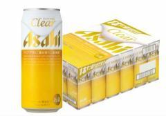 クリアアサヒ500ml 24缶入り(1ケース)【アサヒビール】