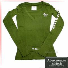 [あす着]Abercrombie & Fitch アバクロ レディース 長袖 カットソー 1575860018-035