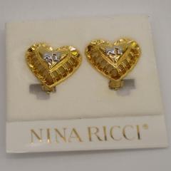 NINA RICCI ニナリッチ ハートイヤリング ゴールド 【acs-1】