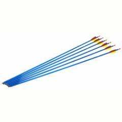 アーチェリー用 アルミ矢 29インチ ブルー 6本