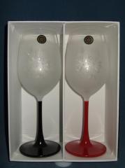 ☆ガラス漆ブラスト♪ワイングラスペア<薔薇>誕生祝・結婚祝・母の日・父の日のプレゼントに最適♪