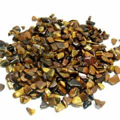 【パワーストーンブレスレットの力を回復・浄化に】天然石さざれ石 タイガーアイ(黄トラ目石) 100g /キャッツアイ効果が美しいさざれ