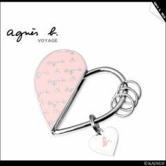 agnes.b(アニエスべー) アニエスロゴ☆キーリング ピンク SALE
