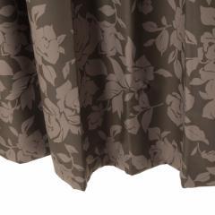 遮光カーテン ロワールBR 幅100cm×丈110cm2枚 花柄 バラ柄 防炎加工(防炎ラベル付き)tdos752