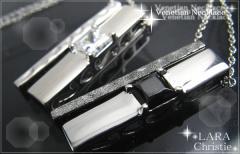 ペアネックレス シルバー セット シンプル人気ブランド LARA Christie *ララクリスティー ヴェネチアンペアネックレスP-4472-P