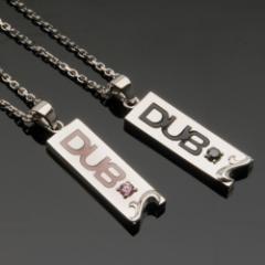 送料無料【DUB collection】新作★2つ合わせるとハートになる♪ヒドゥンハートネックレス(DUBj-190)
