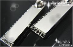 ペアネックレス シルバー セット シンプル人気ブランド LARA Christie *ララクリスティー ティグニティーペアネックレスp3880-p