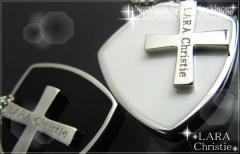ペアネックレス シルバー セット シンプル人気ブランド LARA Christie *ララクリスティー ノーザンクロスペアネックレスP-4482-P