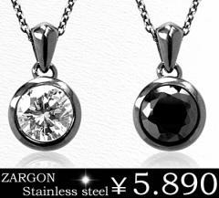 即納 送料無料■【ZARGON】ザルゴンダイヤモンドCZステンレスネックレス/gps8200