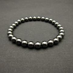 天然石6mmパワーストーンブレスレット(natural stone bracelet)/ヘマタイト