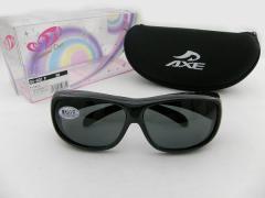 【40%OFF以上】 アックス AXE オーバーグラス サングラス 偏光602P-GMケースセット お得 メガネの上から 釣り