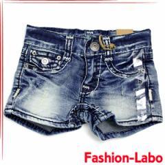 [あす着]NEW YORK PAPA 刺繍 デニム クラッシュ ショートパンツ 半ズボン 韓国子供服 ns-037
