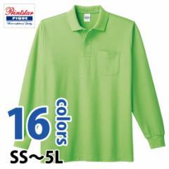 豊富なカラーと幅広いサイズ展開☆T/C長袖ポロシャツ(ポケット付)#00169-VLP プリントスター Printstar polo-m