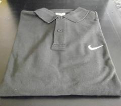 NIKE ナイキ ポロシャツ 黒 サイズL 参考上代から約65%off 【po-1】 B品