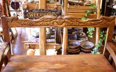 バリ家具古木チークのディスプレイラック 車輪 [H.125cm]【アジアン雑貨】【バリ雑貨】