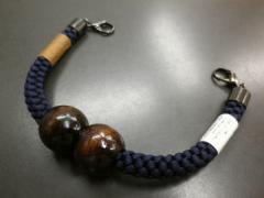 和装小物小物 粋な男物男性マグネット羽織紐濃紺(絹100%)