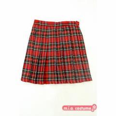 ◆制服 学校 スカート◆チェック柄プリーツスカート色:赤チェック サイズ:M/BIG■Teens Ever■