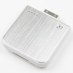 【メール便 送料無料】特価/iPhone4S、3GS、iPod対応充電モバイルバッテリー M1900電池[シルバー×ホワイト、ブラック]アウトレット品 ┃