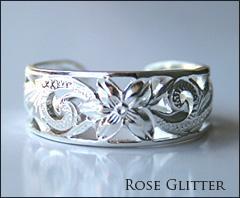 手彫りならではの繊細で美しいリングハワイアンジュエリー透かし彫りプルメリアトゥ、ピンキーリング