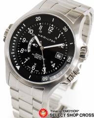 送料無料 ハミルトン 腕時計 カーキ H77615133 ブラック