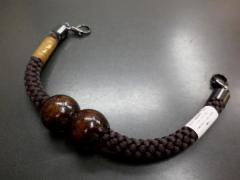 和装着物小物 粋な男物男性マグネット羽織紐濃茶(絹100%)